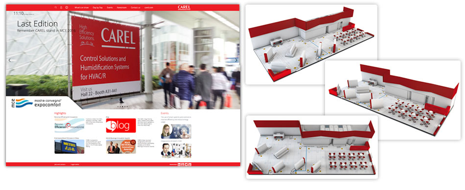 Virtual Exhibition Stand : The carel mce website a virtual exhibition stand is now